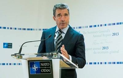 Генсек НАТО обсудит с Обамой российско-украинский кризис