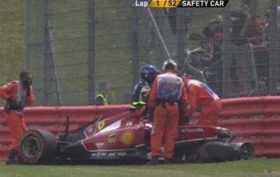 Райкконен разбил свою машину на Гран-при Великобритании