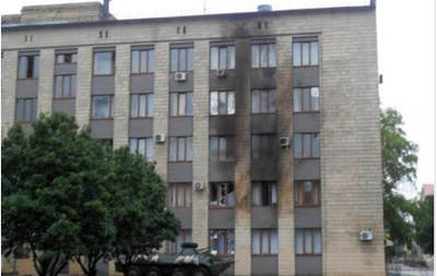 В Артемовске из огнемета обстреляли горсовет