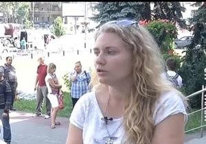 Штурм РОВД Святошино - Активистка КУПР, обвиняющая милиционера в избиении, не дает показаний - Святошинское РОВД