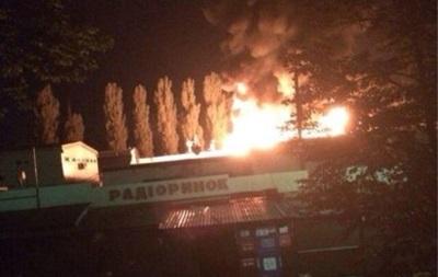 В Киеве горит радиорынок - соцсети