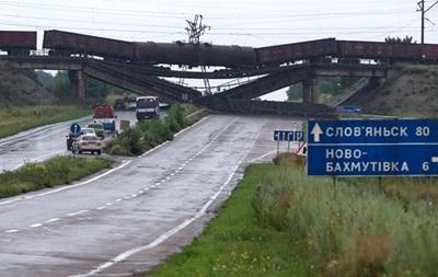 В зоне АТО восстановили шесть ж/д мостов