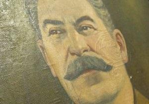 Новости Харькова - 23 февраля - День защитника Отчизны -В центре Харькове 200 человек провели парад и пронесли городом портрет Сталина
