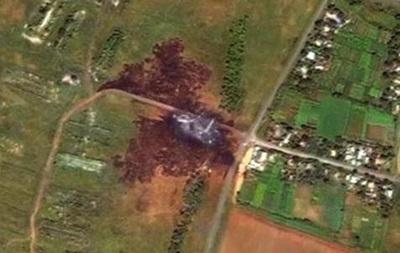 В сети появились снимки со спутника места падения Боинга-777