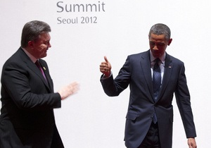 Пресс-секретарь Януковича заявила, что он провел с Обамой не 4, а 15 минут