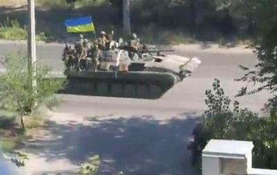 Через Северодонецк в Луганск прошла колонна украинской военной техники