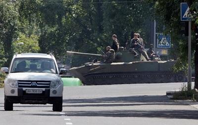 Снаряды уже залетают вглубь Донецка
