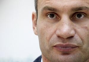Кличко призывает Европу ввести санкции против украинской власти