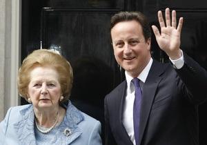Маргарет Тэтчер приехала в гости к британскому премьеру