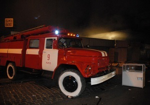В Киеве на Большой Житомирской произошел пожар в жилом доме