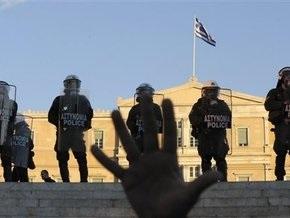 В греческом городе Патры демонстранты заблокировали полицейское управление