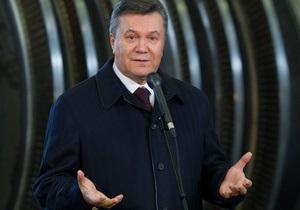 Янукович ждет первый сжиженный газ в Украине сразу после своей первой каденции