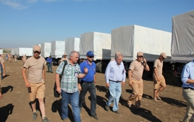 Красный Крест начал осмотр гуманитарного конвоя – МЧС России
