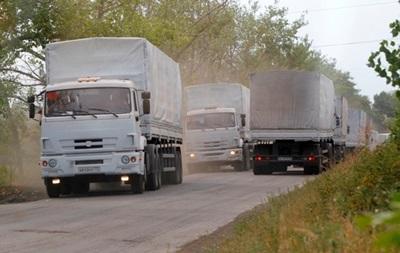 Грузовики российского гуманитарного конвоя направились в Подмосковье