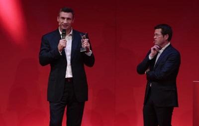 Виталия Кличко наградили в Германии за вклад в развитие спорта