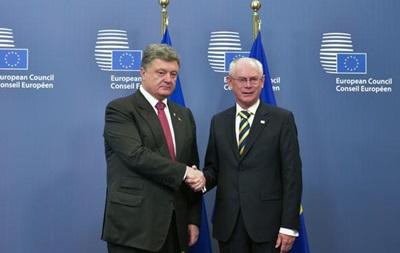 Порошенко встретился в Брюсселе с председателем Евросовета