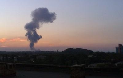 На западе Донецка прогремел мощный взрыв