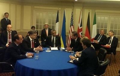 На саммите НАТО Порошенко встретился с лидерами стран Большой пятерки