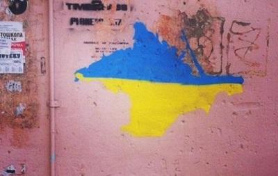 После наплыва переселенцев в Омске появились изображения сине-желтого Крыма