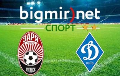 Заря – Динамо – 2:2 - трансляция матча чемпионата Украины