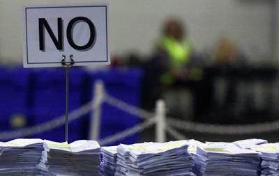 Подсчет голосов в Шотландии завершен: лидируют сторонники союза с Британией