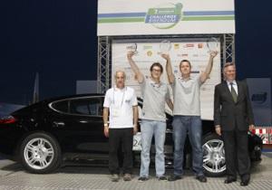 Подвійна перемога Porsche в змаганнях Michelin Challenge Bibendum