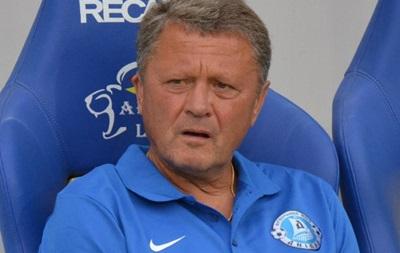 Тренер Днепра: Играть на половину пустом стадионе в Киеве не очень приятно