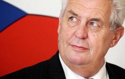 Президент Чехии призвал отменить санкции против России