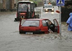 Из-за наводнений в Словакии эвакуированы сотни людей