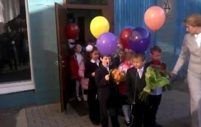 Первый звонок в донецкой школе прошел на украинском языке
