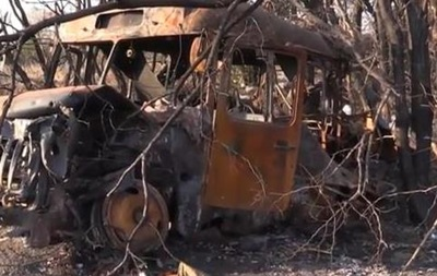 Блокпост сил АТО в Чернухино после обстрелов: видео с передовой