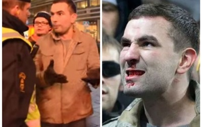 Фанату сборной России, назвавшим украинцев  фашистами , разбили нос за флаг ДНР