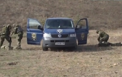 Бойцы батальона  Киев-1  тренируют новобранцев