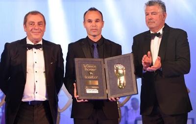 Андрес Иньеста стал обладателем премии Golden Foot