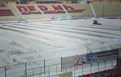 В России отменили матч из-за сильного снегопада