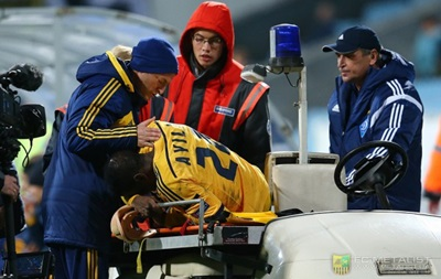 Защитник Металлиста порвал связки в матче с Легией