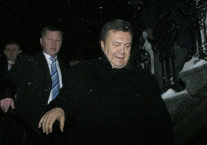 Из-за похолодания Янукович отменил поездку в Полтавскую область