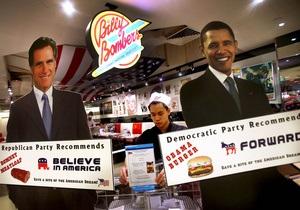 В колеблющихся штатах Обама и Ромни идут вровень