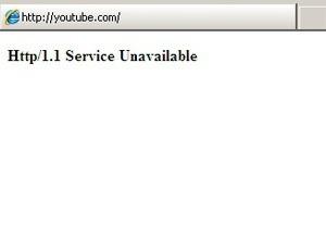 Стартовая страница YouTube перестала работать