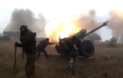 Сепаратисты показали, как стреляют из  Градов  и гаубиц