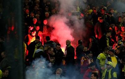 Фанаты Галатасарая устроили беспорядки в Дортмунде на матче с Боруссией