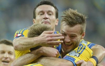 Футболисты сборной Украины не получили премию за первые матчи отбора Евро-2