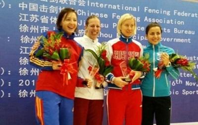 Украинка Шемякина завоевала медаль Кубка мира по фехтованию