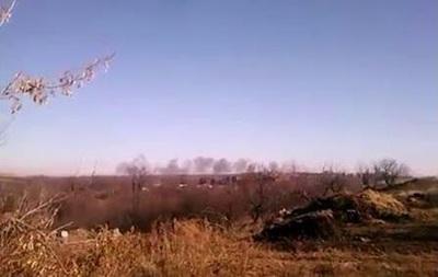 Местный житель снял, как сепаратисты якобы накрыли  Градом  позиции сил АТО