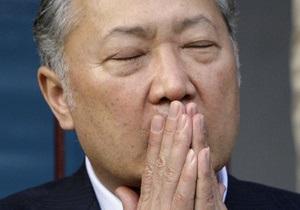 Бакиев отрицает причастность к дестабилизации обстановки в Кыргызстане