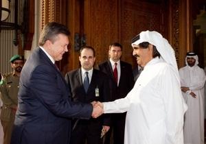 Янукович и президент Катара наградили друг друга орденами