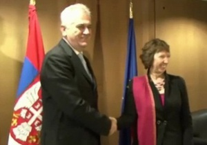 Глава МИД ЕС пришла на встречу с президентом Сербии, не зная, как он выглядит