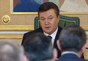 Янукович уволил троих губернаторов