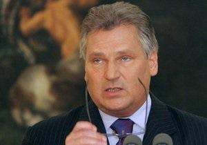 Экс-президент Польши Квасьневский едва не погиб, катаясь на лыжах