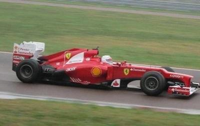 Себастьян Феттель впервые проехался за рулем болида Ferrari